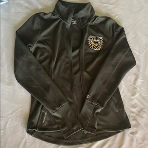 Fitted dry fit athletic jacket